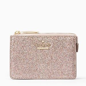NWT Kate Spade Rose Gold Glitter Keychain Wallet